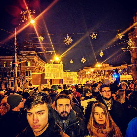 Proteste anti amnistie și grațiere la Cluj si in alte 15 orase
