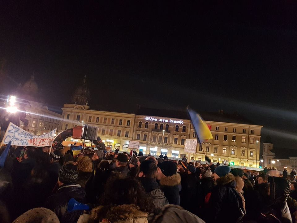 Protestul de la Cluj, confiscat de USR?