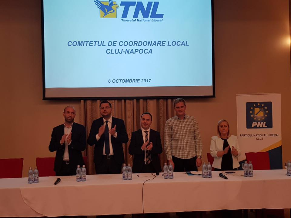 Cristian Ciuta, noul preşedinte al biroului municipal al TNL Cluj-Napoca!
