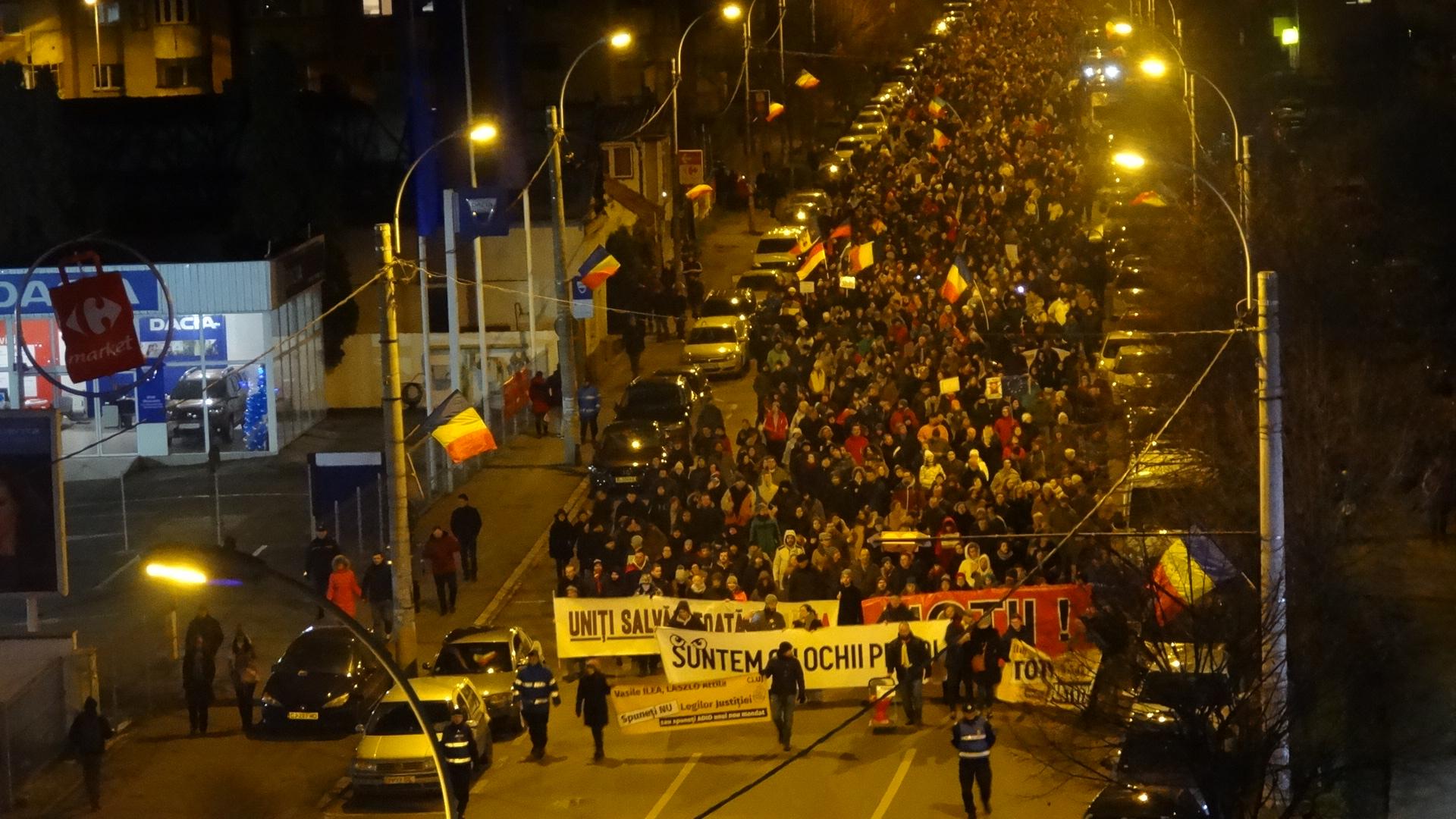 Reîncep de astăzi protestele la Cluj