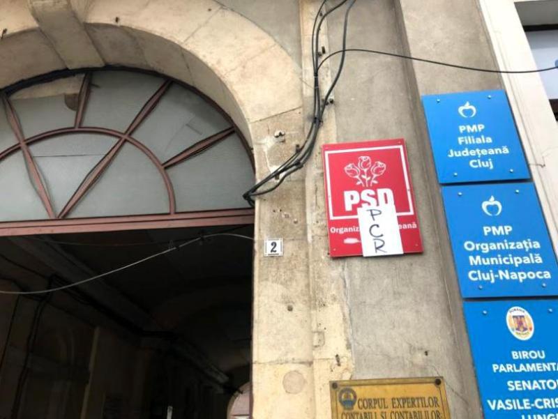 Sediul PSD Cluj a fost ţinta unui atac cu un cocktail molotov! Poliţia a demarat o anchetă – FOTO
