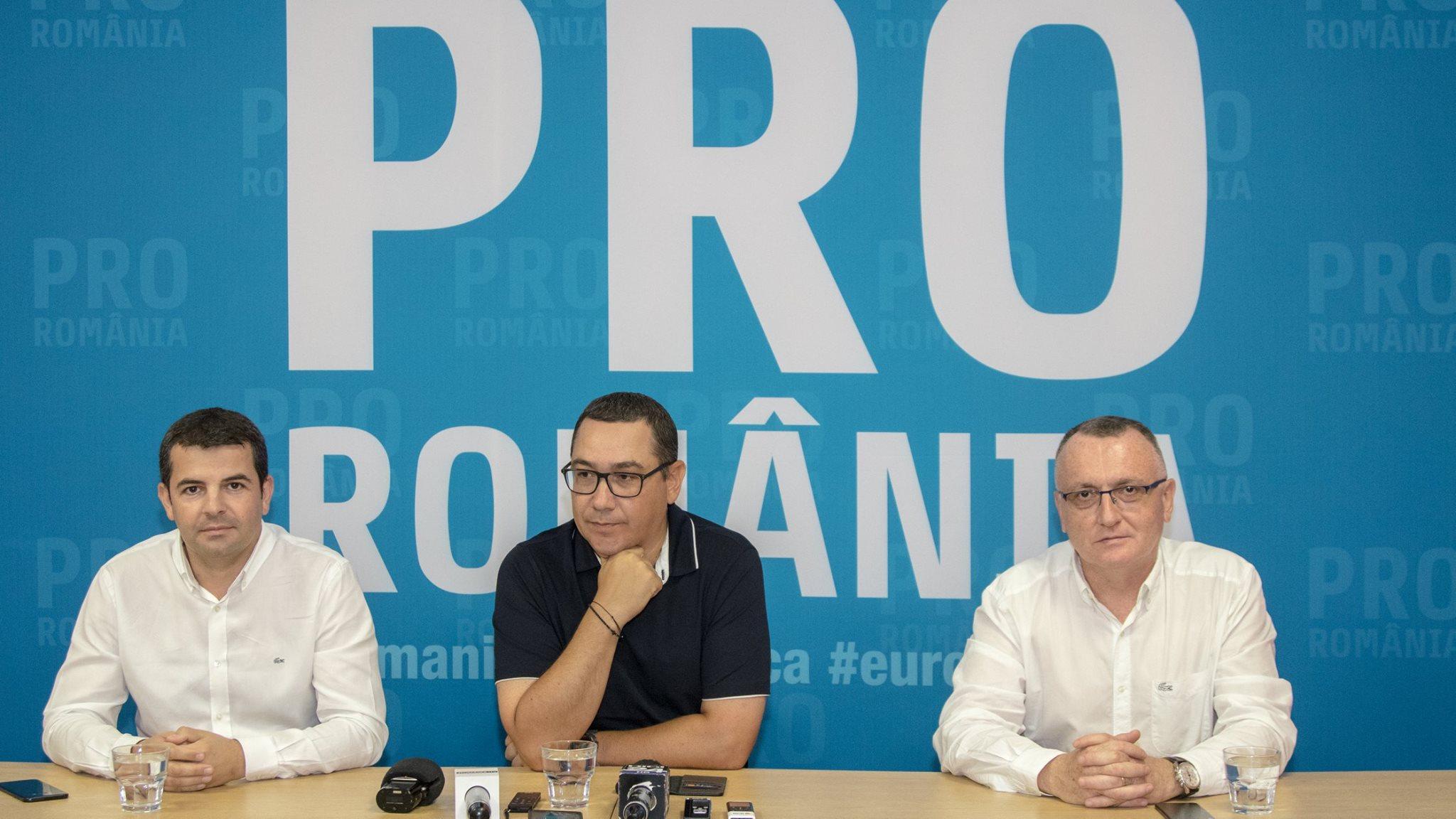 Liderii partidului PRO ROMÂNIA vin la Cluj-Napoca