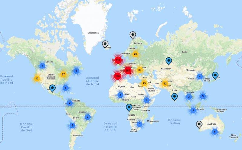 Prezidențiale 2019. Cum arată harta interactivă a secțiilor de votare din străinătate