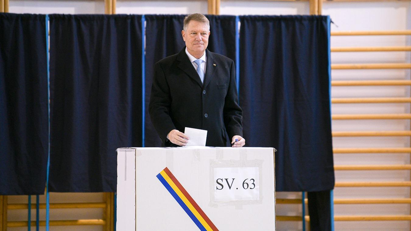 """Iohannis, la vot: """"Votăm pentru viitorul României"""""""