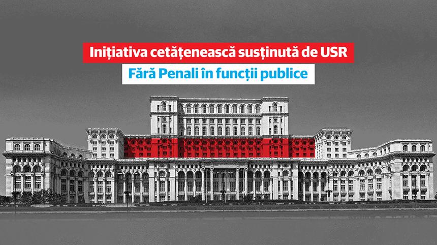 """USR cere din nou ca referendumul """"Fără penali în funcţii publice"""" să fie pe 6 decembrie"""