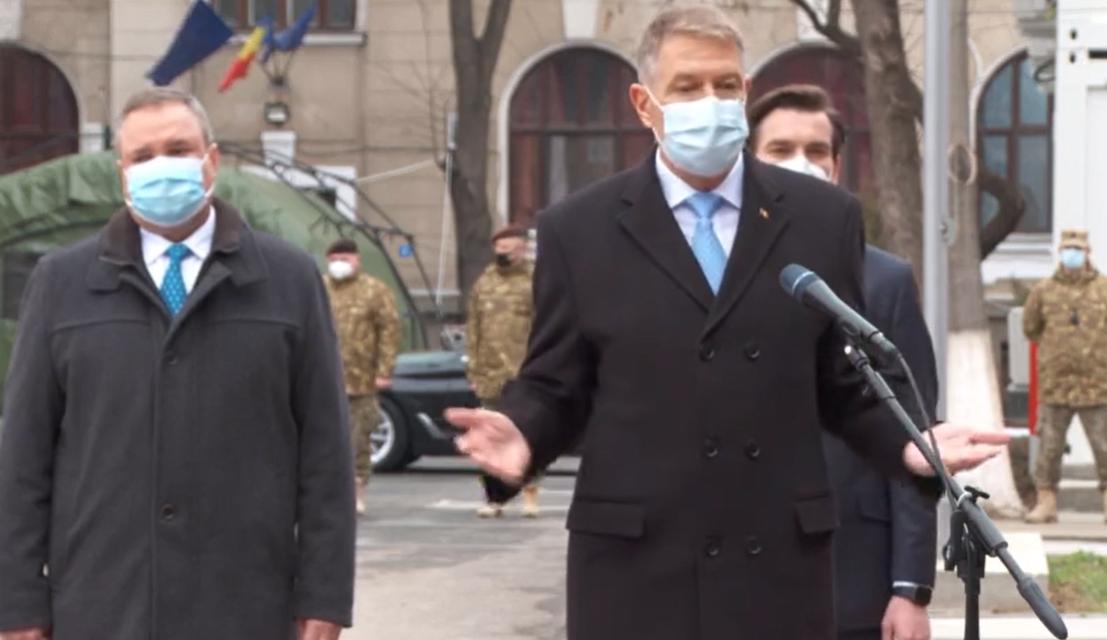 """Klaus Iohannis: """"După Crăciun vom intra în campania de vaccinare. Martie, aprilie, mai – Imunizarea populației generale"""""""